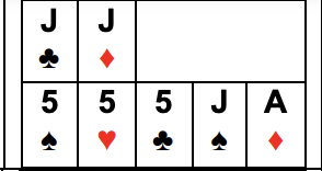 Example of Two Three of a Kinds