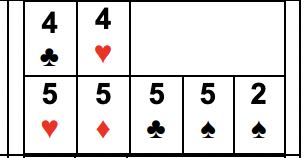 Example of Four of a Kind with a Pair